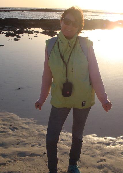 Silvia Freund am Meer